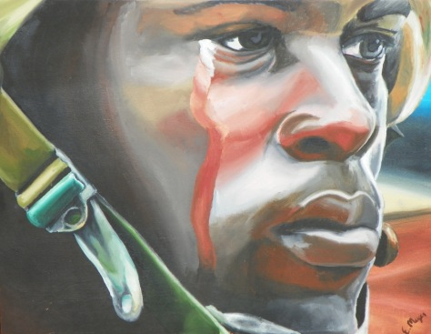 """Study of Crying Soldier."" OIls."