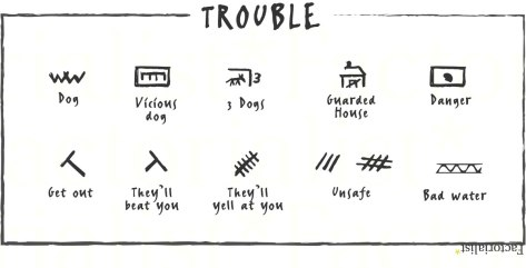 hobo signs trouble